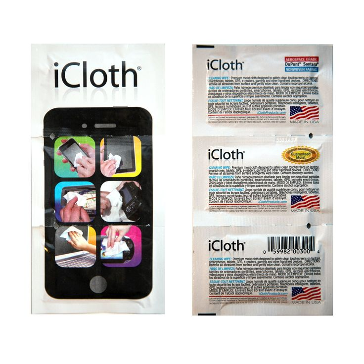 Amazon.com: iCloth Touchscreen Cleaning Wipes (iC100) for Tablets, Smartphones, eReaders, Laptops, Desktops & Screen Protectors (100 pre-moistened individual wipes) - Performance guaranteed: Computers & Accessories