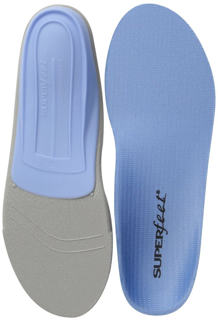 Amazon.com: Superfeet BLUE Premium Insoles: Shoes-I use the pink in my sneakers.  They wash so easily and wear great.