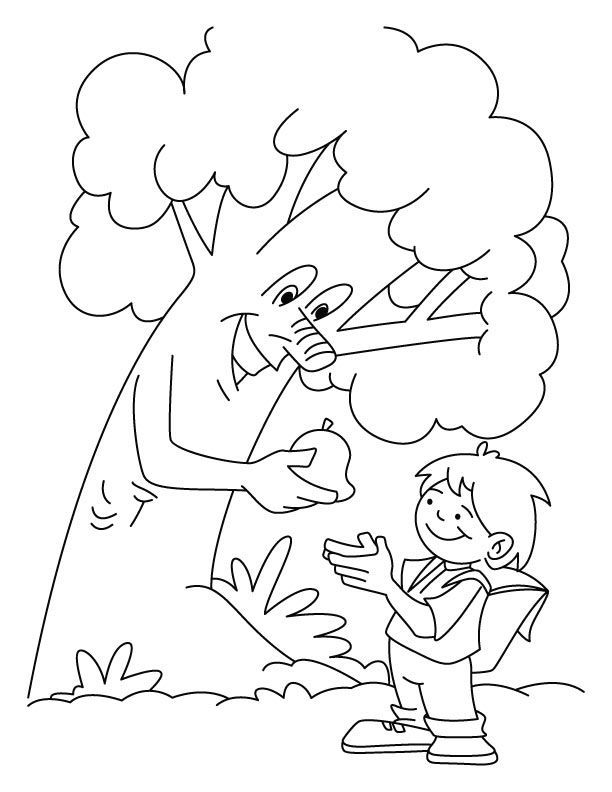 Arbor Day Tree Coloring Pages Tree Coloring Page Coloring Pages