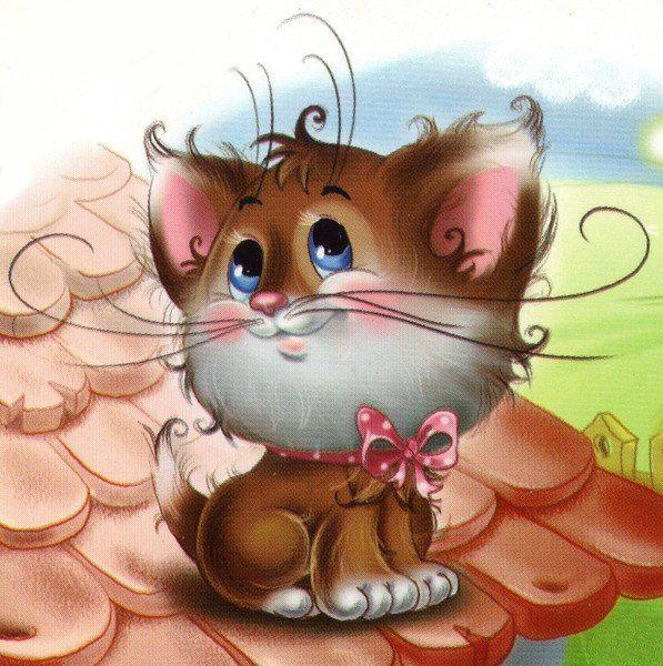 Смешной кот рисунок для детей