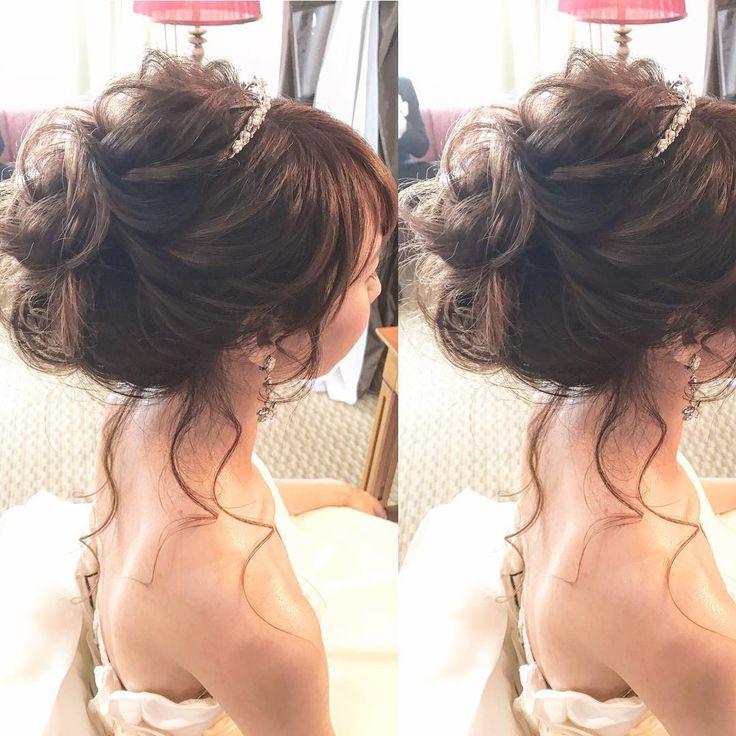 ゆるっと、ルーズアップ ❤︎ ❤︎ ❤︎ #ティアラ #カールアップ #wedding#ウエディング#ルーズ#ゆるふわ#ベール#おくれ毛 #ヘア#hairarrange #ヘアセット#hairset #ヘアメイク#hairmake#ブライダル#bridal#marry #ヘアスタイル#hairStyle#ブライダルヘアメイク #日本中のプレ花嫁さんと繋がりたい#花嫁#結婚式#披露宴#前撮り#花嫁#花嫁ヘア#プレ花嫁 #トリートドレッシング#花嫁準備 #chiekoko