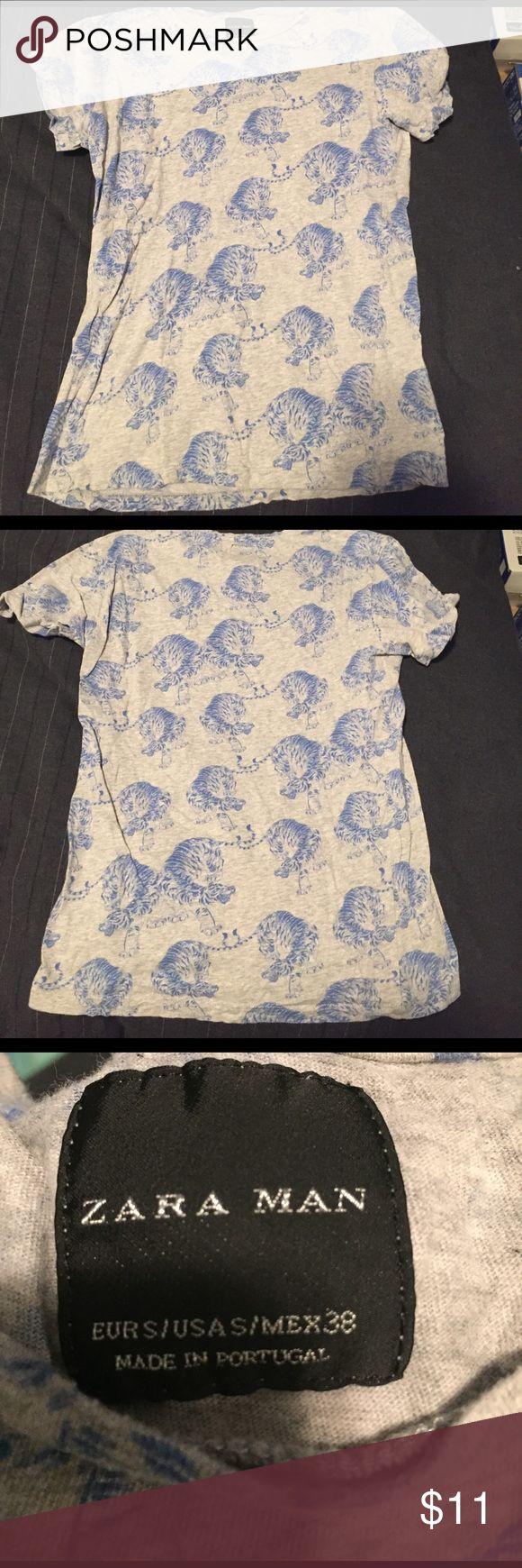Zara tshirt Tiger print Zara men's tshirt Zara Shirts Tees - Short Sleeve
