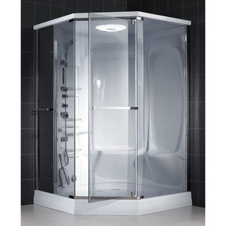 @Overstock - This versatile DreamLine shower called 'Neptune' provides steam along with other adjustable features. The eight body jets, tropical rain forest shower head, and waterfall features allow you to create a unique experience each time you bathe. http://www.overstock.com/Home-Garden/DreamLine-Neptune-Steam-Shower/6740438/product.html?CID=214117 $2,917.60