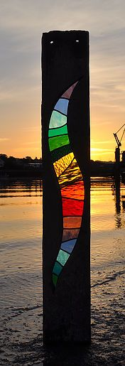 Louise V Durham / Stained Glass Scuptures / Shoreham-by-Sea