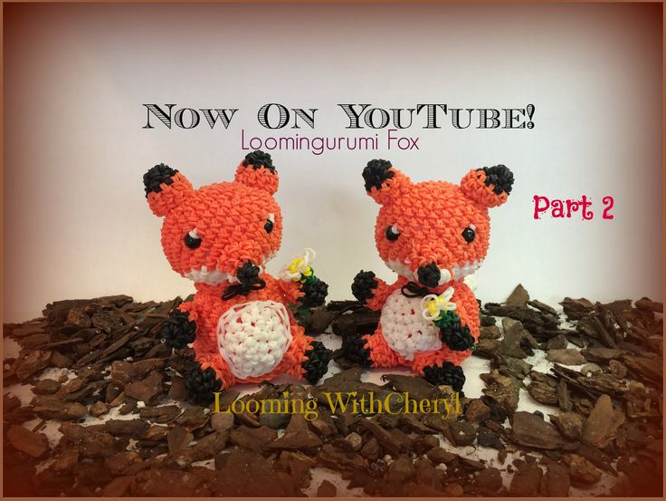 Rainbow Loom FOX - Part 2 of 2 - Looming WithCheryl ( Looming With Cheryl ) Loomigurumi Tutorial is Now on YouTube! Charms / figures / gomitas / gomas / animals. Crochet hook only / Amigurumi. Please Subscribe ❤️❤ m.youtube.com/user/LoomingWithCheryl