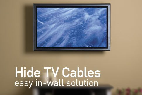 Hide flat screen tv cables an easy in wall solution by legrand decorations pinterest - How to mask cables ingenious solutions ...