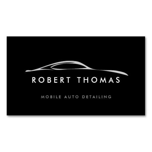 BLACK AUTO DETAILING, AUTO REPAIR BUSINESS CARD - Customize it.