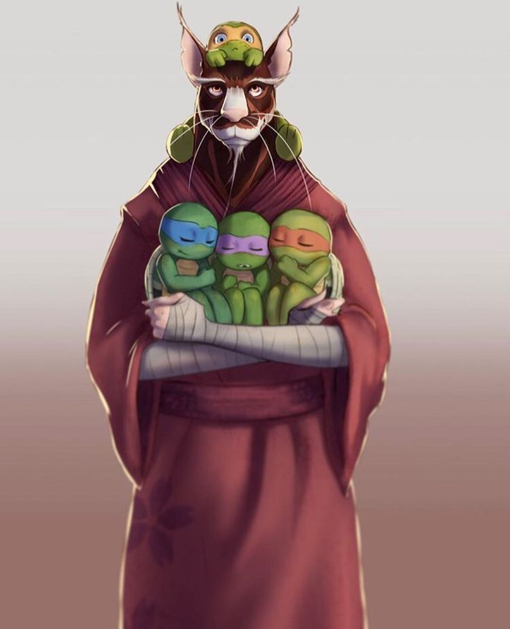 Splinter and sons TMNT. (Quite adorable, but I'll save you my usual spiel...)