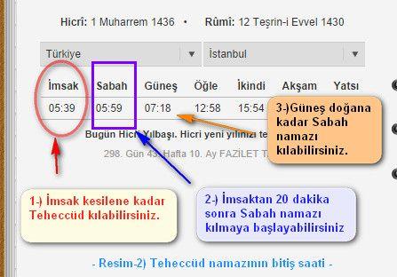 Namazlar - Teheccud Namazi