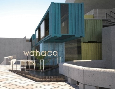 The Southbank houses the Wahaca restaurant - a great way to eat on the Thames