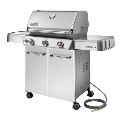 Weber Genesis S-310 3-Burner Stainless Steel Natural Gas Grill-6650001 - The Home Depot