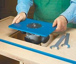 Installing a Router Plate