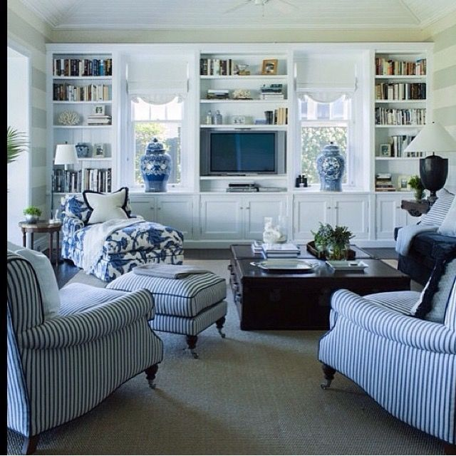 50 Incredible Living Rooms To Inspire Your Next Home Makeover Blue And White Living Room Country Living Room Design French Country Living Room