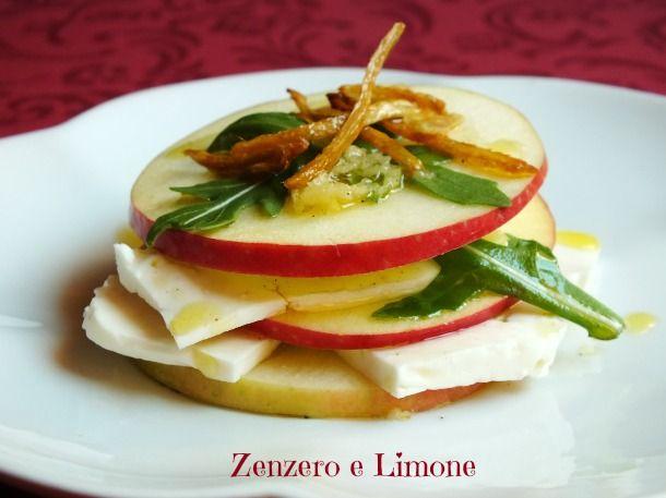 torretta di mela e primo sale --ricetta antipasto