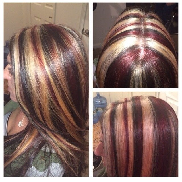 #ShareIG Transformation :) red blonde brown #idohair rootsbymichelle #highandlow #colorcorrection @hairbymichl @michvigzny @stephanie_rose926
