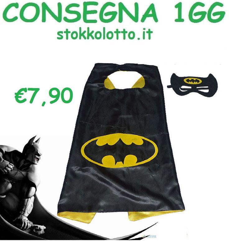 €7,90 Batman lego costume maschera carnevale economico bambini taglia misura 3 4 5 6 anni travestimento festa a tema Avengers a poco prezzo economico http://stokkolotto.it #batman #batmanlego #costume #costumebatman #travestimentobatman #mascherabatman