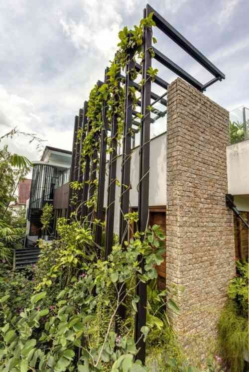 déco extérieure de maison moderne
