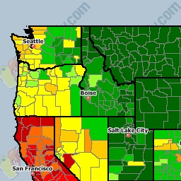 USA National Gas Price Heat Map - GasBuddy.com... modify your search by zip code/city-state-province eh?/type of gas... use charts, maps, lists and trip cost calculator. A wonderful resource!