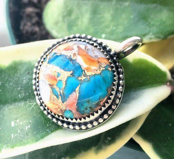 Turquoise Gemstone Pendant-Silver pendant-Birthstone Pendant Gift to her Turquoise jewelry Turquoise Necklace Pendant