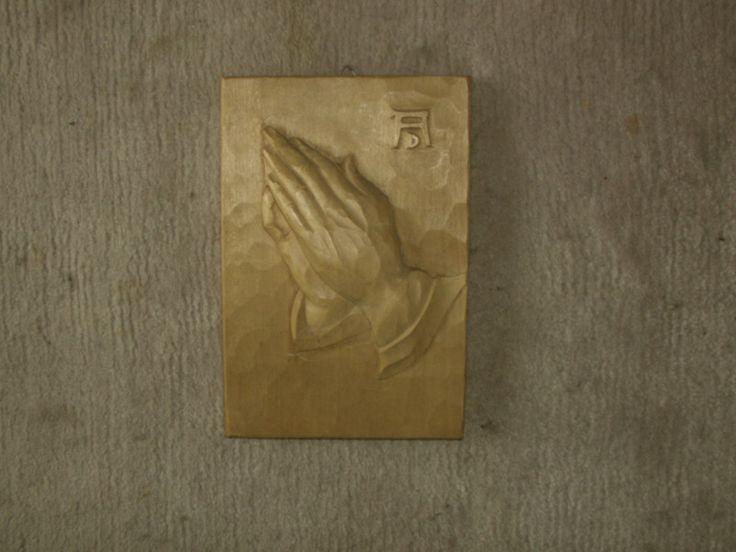 """betende+Hände+""""Bild+geschnitzt""""+von+MajaSt+auf+DaWanda.com"""