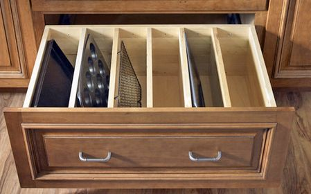 Variations on The Vertical Stack for Storing Pans, Trays, and Boards // Live Simply by Annie