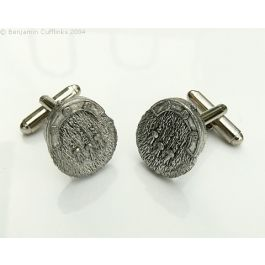 Scottish Kilt Sporran Cufflinks - I love these cufflinks.  Made from Pewter they have been molded into the shape of a Kilt Sporran.  Definitely very unique.