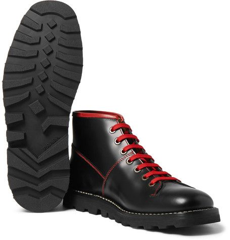 Prada Spazzolato Leather Boots