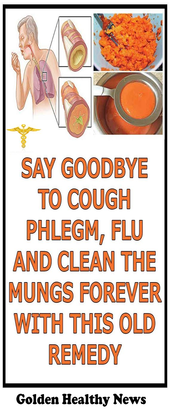 SAY GOODBYE TO COUGH PHLEGM FLU AND CLEAN THE LUNGS FOREVER WITH THIS OLD REMEDY