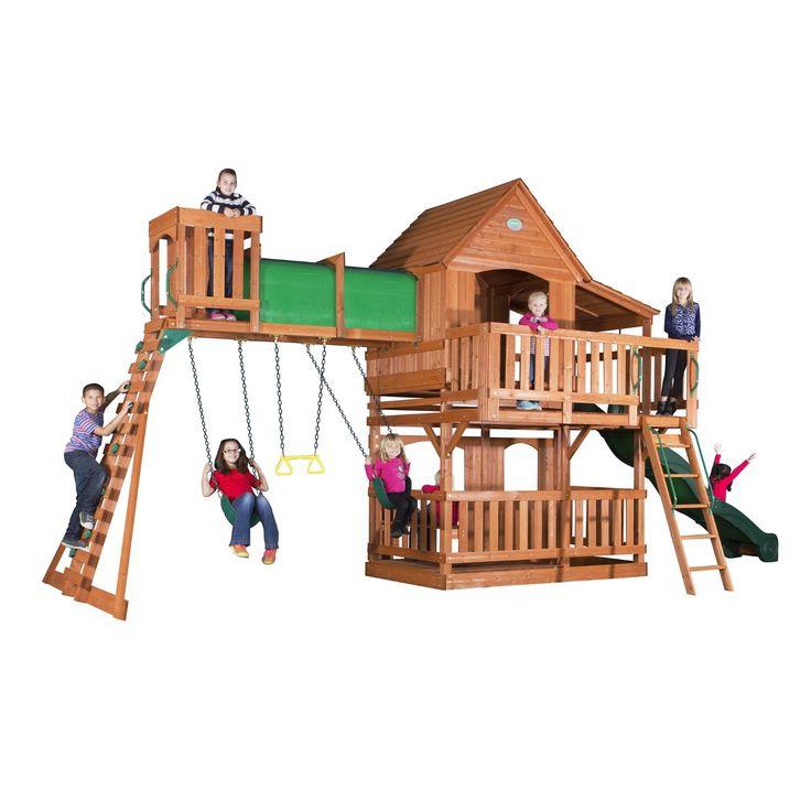 Amazon Com Backyard Discovery Woodridge Ii All Cedar Wood