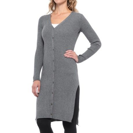 Anew Ribbed Lounge Cardigan Sweater (For Women) in Twilight