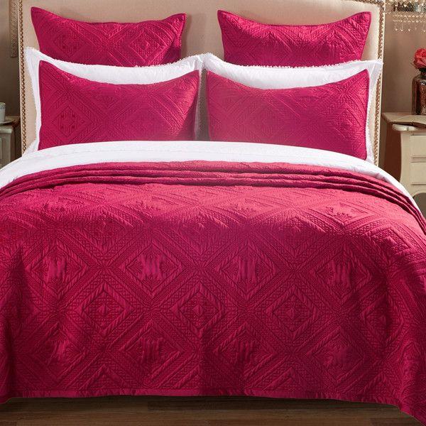 Queen Graphite Calla Angel Fern Crystal Luxury Faux Silk Quilt