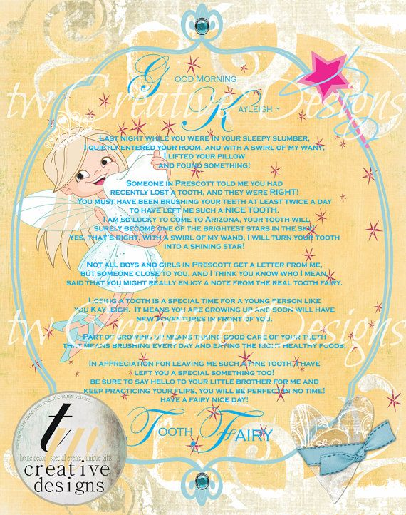 17 best images about tooth fairy on pinterest fun for for Fairy letters to child