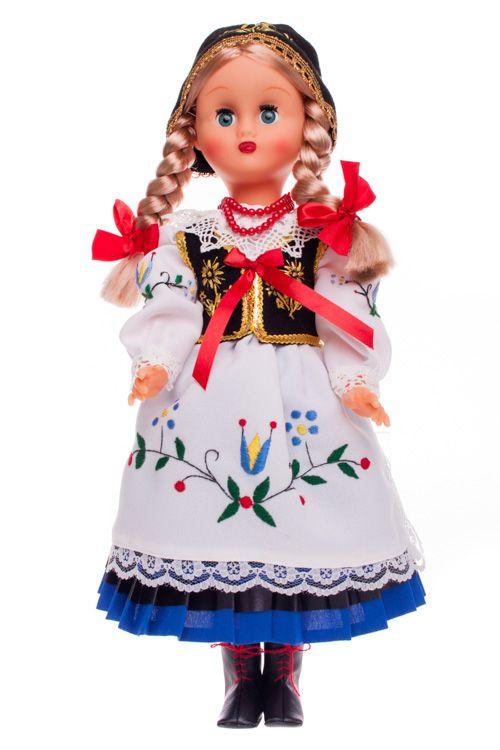 Lalka ludowa - kaszubski strój regionalny - 40 cm
