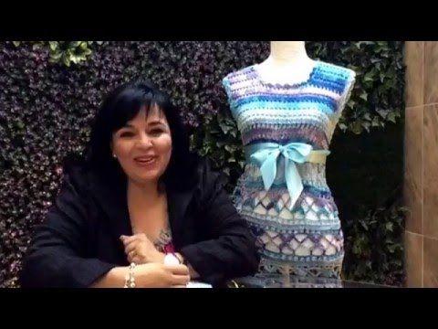 Parte 2 VESTIDO DE VERANO - Tejido con ganchillo fácil y rápido - Tejiendo con LAURA CEPEDA - YouTube