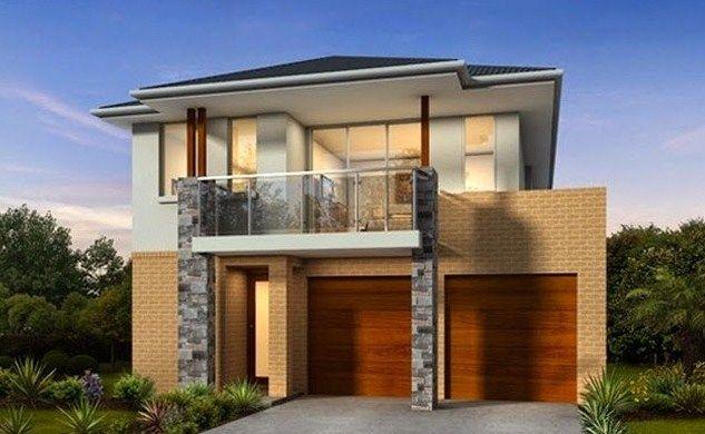 Fachadas de casas residenciales de dos pisos