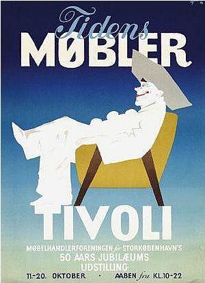 By Thor Bögelund (1890-1959), 1956, Tidens Møbler Tivoli, Andreasen & Lachmann, Copenhagen.