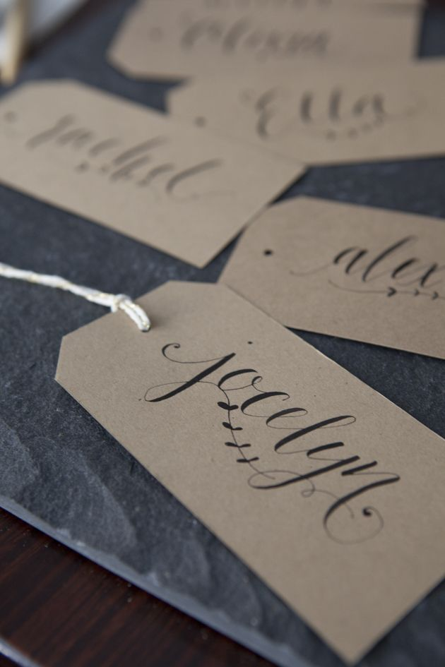 Had to pin my name ohsoverypretty calligraphy gift tags