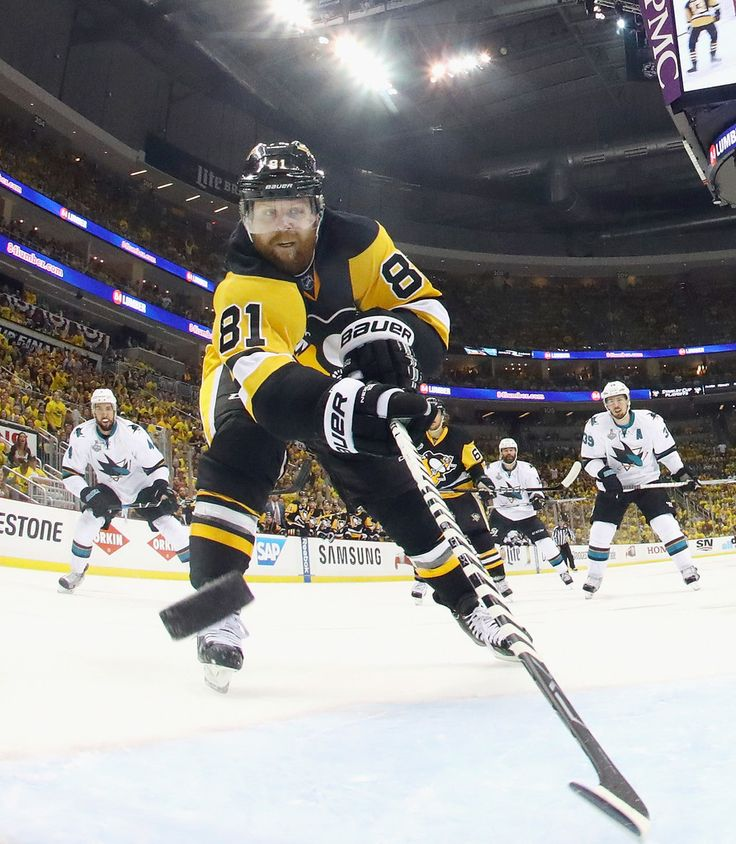 Phil Kessel #81 of the Pittsburgh Penguins scores a second period goal against Martin Jones #31 of the San Jose Sharks (not pictured) in Game Two of the 2016 NHL Stanley Cup Final at Consol Energy Center on June 1, 2016 in Pittsburgh, Pennsylvania.