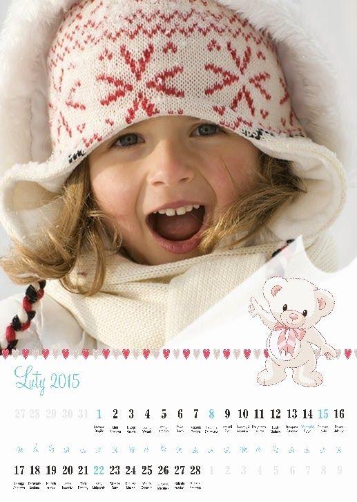 Fotokalendarz projekt izziBook.pl - szablon kalendarza dziecięcego