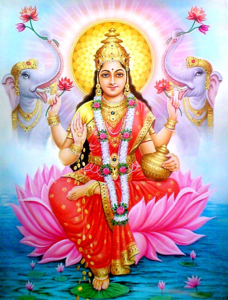Lakshmi is the Hindu goddess of wealth, prosperity (both material and spiritual), fortune, and the embodiment of beauty.