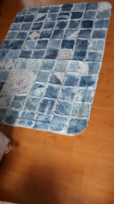Teppich Pies Jeans Teppich Rug | Denim Quilt Patterns, Denim Rug, Denim
