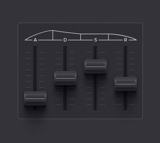 Untitled iPhone synth app filter envelope