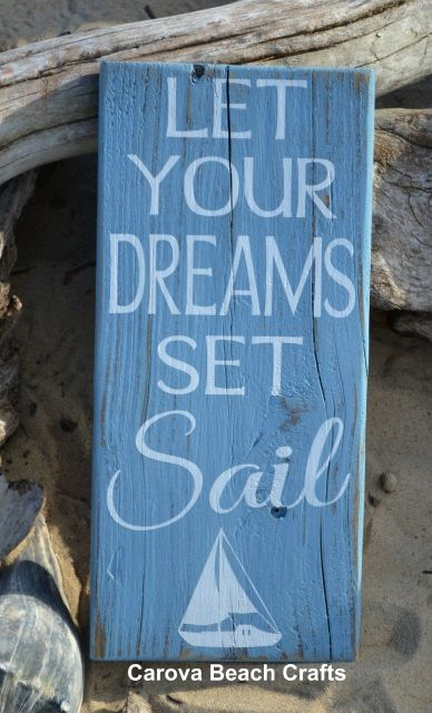 Beach Décor, Nautical Nursery Decor, Baby Children Wall Art Gifts Coastal, Wooden Sign, Beach Quote Wood Plaque, Inspirational Kids Room, Sailing, Boating, Sailboat, Nautical Theme