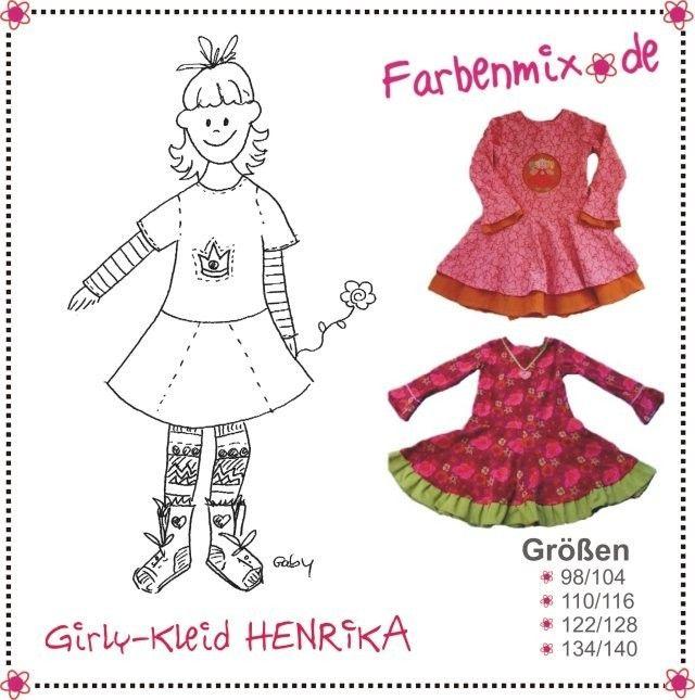 HENRIKA, Papierschnittmuster - farbenmix Online-Shop - Schnittmuster, Anleitungen zum Nähen