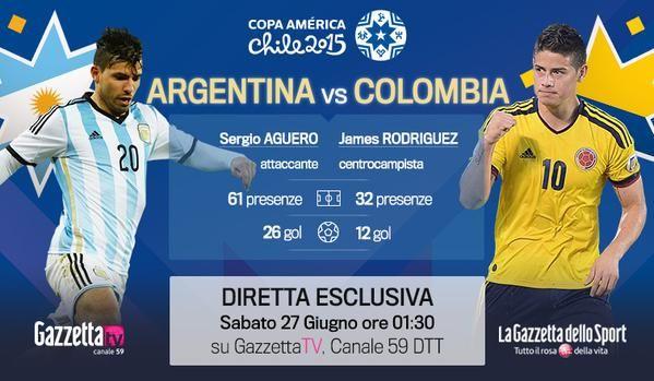 argentina colombia streaming calcio rojadirecta gazzetta tv