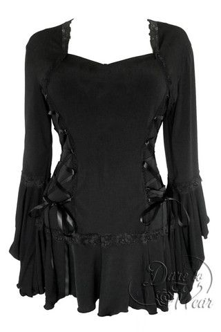 Dare To Wear Victorian Gothic Women's Plus Size Bolero Corset Top Black S-5XL