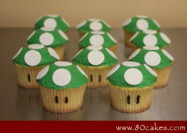 Super Mario 1 Up Cupcakes