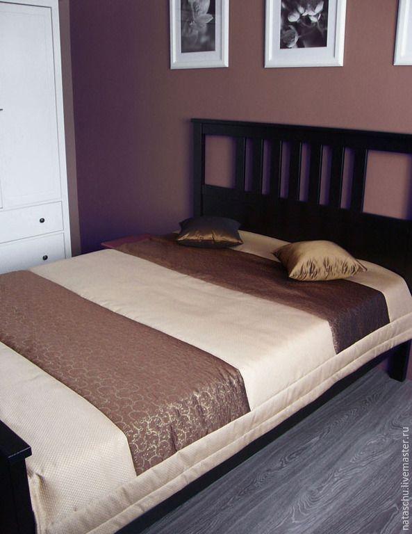 Купить Покрывало стеганное - коричневый, покрывало, покрывало пэчворк, покрывало на кровать, покрывало в спальню