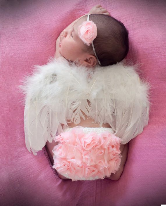 Newborn Angel Wings, Newborn Photo Prop, Angel Photography Prop, Feather Wings on Etsy, $15.00