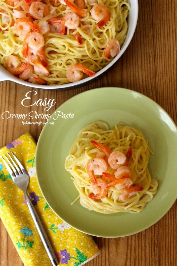 Easy Creamy Shrimp Pasta   thebittersideofsweet.com